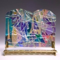 Glass Art Menorah MN