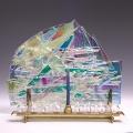Handmade Glass Menorah MN
