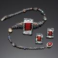 Handmade Holiday Set Glass Jewelry