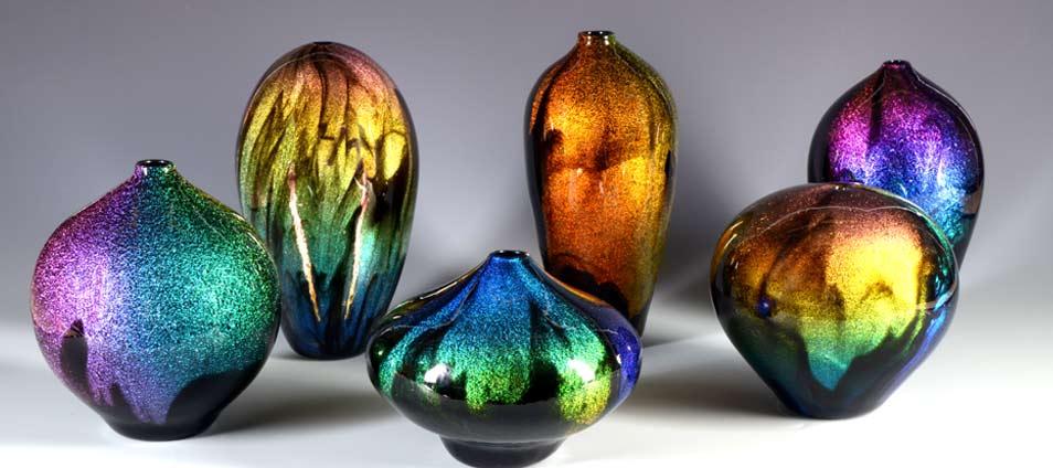 Chinese Mountains Glass Art